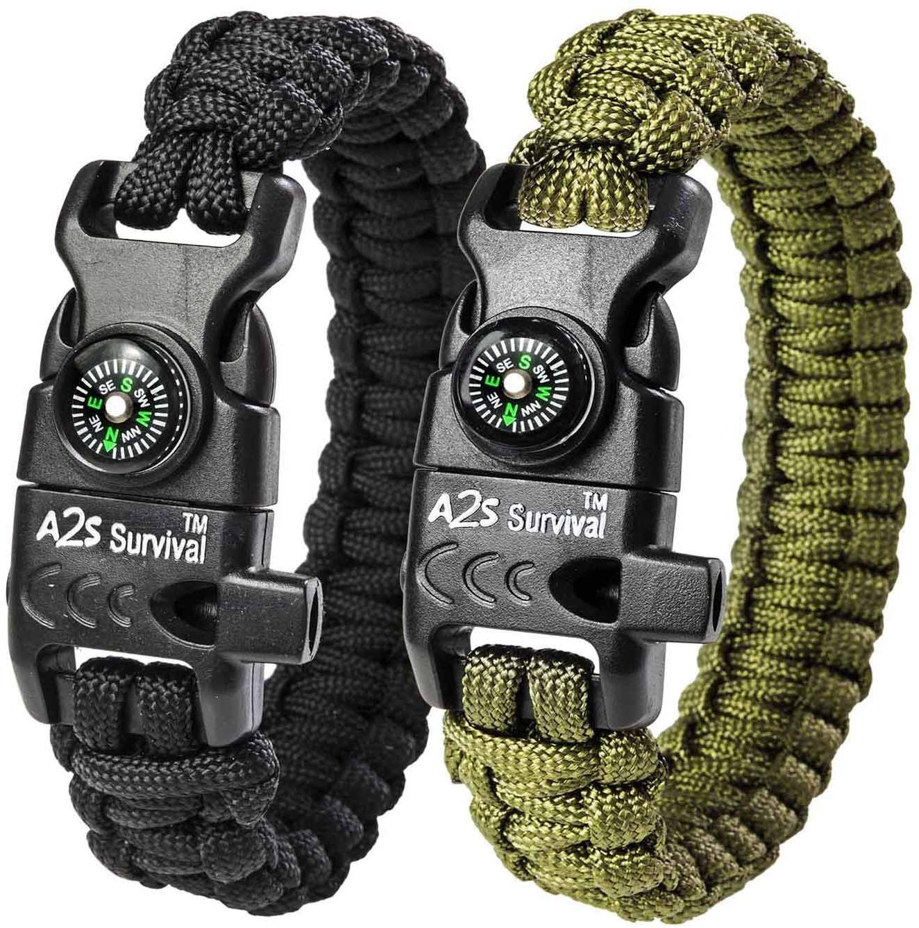 Camping hiking survival EDC fire starter waxed rope Pack of 2
